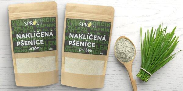 Prášek z naklíčené pšenice na očištění organizmu