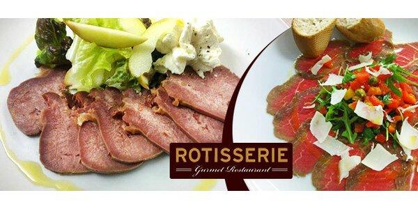 Delikatesy pro dva v oblíbené restauraci Rotisserie