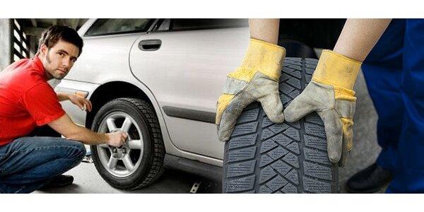 Profesionální přezutí pneumatik s kontrolou závaží a brzd