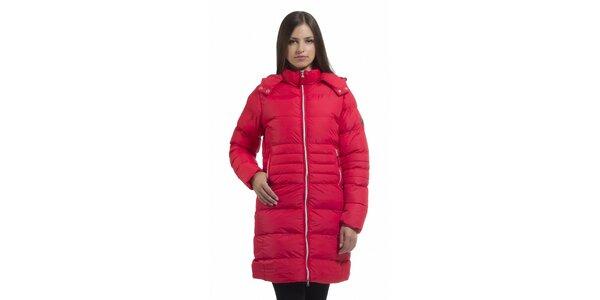 Dámská korálově růžová péřová bunda Bleifrei