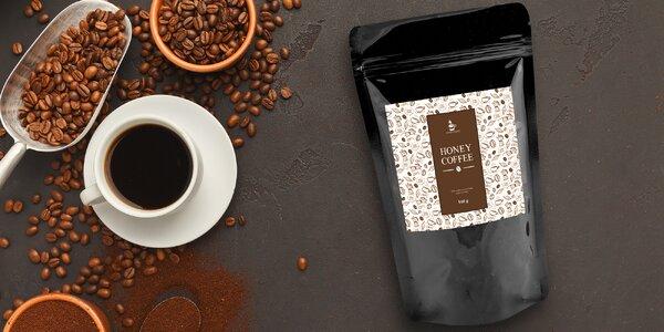 Velké balení zrnkové medové kávy Honey Coffee