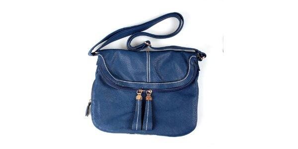 Dámská modrá kabelka London Fashion s nastavitelným popruhem