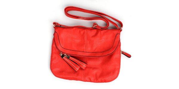 Dámská červená kabelka London Fashion s nastavitelným popruhem