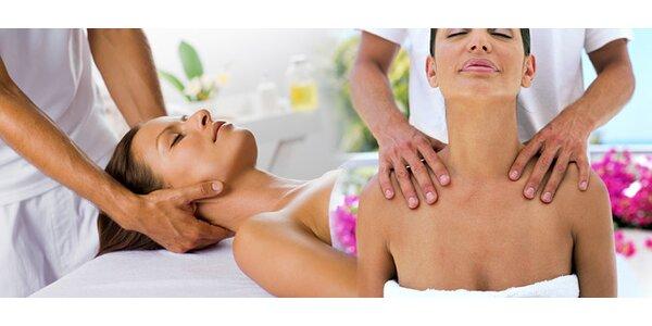 50minutová relaxační masáž od nevidomého maséra