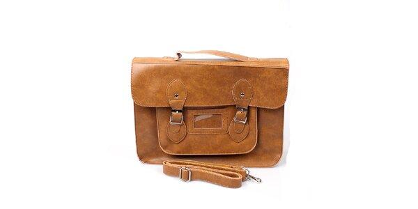 Dámská velká béžová kabelka s přezkami London Fashion