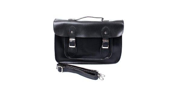 Dámská černá kabelka s přezkami London Fashion