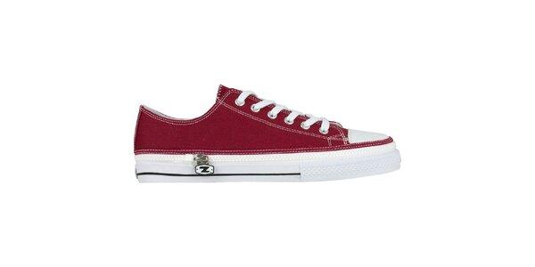 Červené šněrovací zip-on boty Zipz