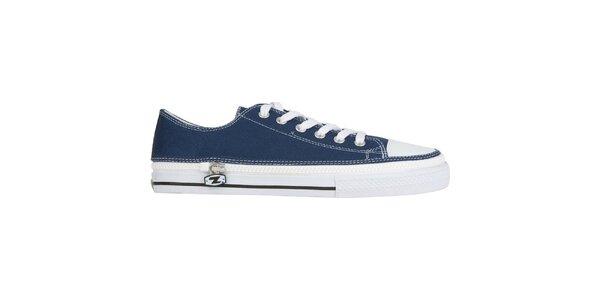 Džínově modré šněrovací zip-on boty Zipz