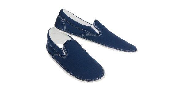 Samostatný vršek v džínově modré barvě Zipz