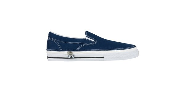Džínově modré nazouvací zip-on boty Zipz