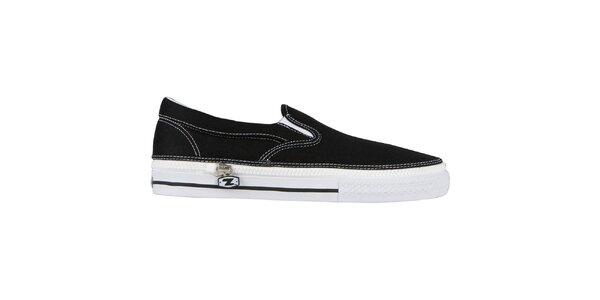Černé nazouvací zip-on boty Zipz