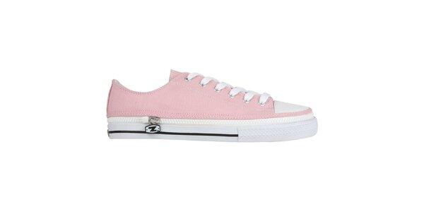 Růžové šněrovací zip-on boty Zipz