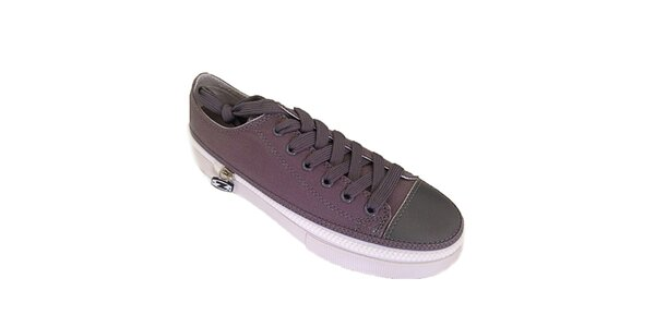 Nízké šedé šněrovací zip-on boty Zipz