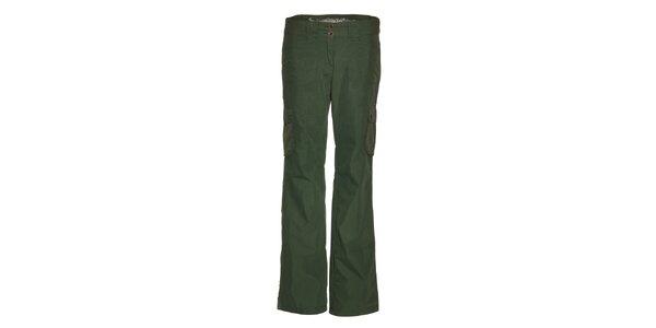 Dámské tmavě zelené sportovní kalhoty Alpine Pro
