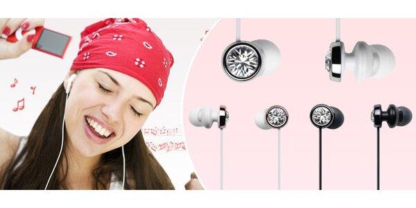 Stylová sluchátka s krystaly Swarovski