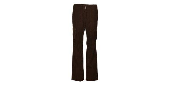 Dámské tmavě hnědé sportovní kalhoty Alpine Pro