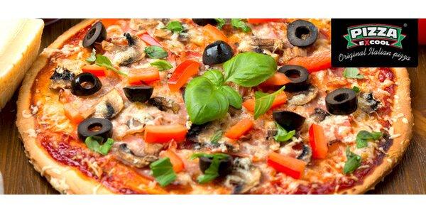 Pizza, co hrdlo ráčí, v hodnotě 300 Kč