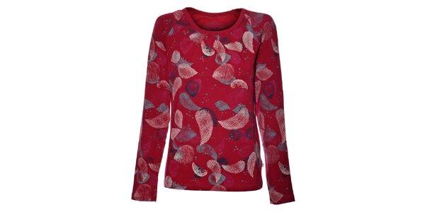 Dámské růžové tričko Alpine Pro s potiskem