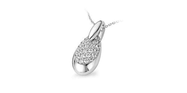 Dámský stříbrný náhrdelník s kapičkou Orphelia