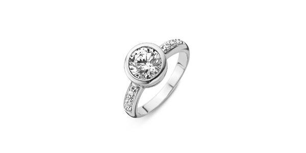 Dámský stříbrný prsten s průhledným kamínkem Orphelia
