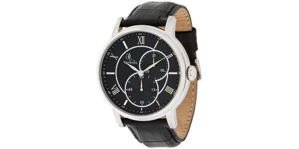Pánské hodinky Orphelia s černým stylovým ciferníkem