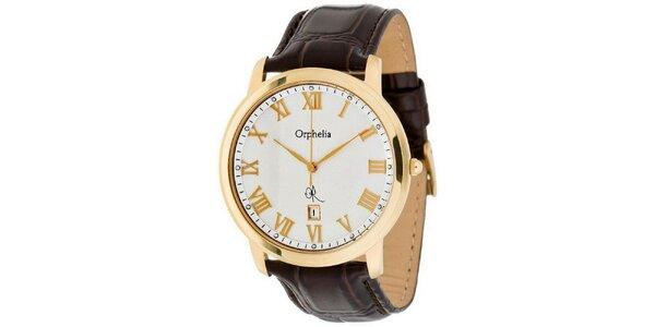 Pánské ocelové hodinky se zlatými detaily Orphelia