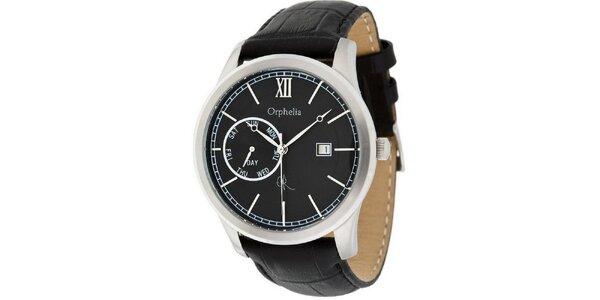 Pánské ocelové hodinky se stříbrnými detaily Orphelia