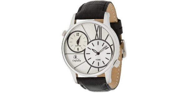 Pánské ocelové hodinky s duálním ciferníkem Orphelia