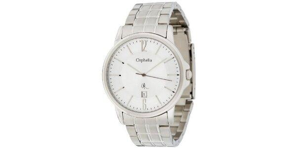 Pánské ocelové hodinky s bílým ciferníkem Orphelia