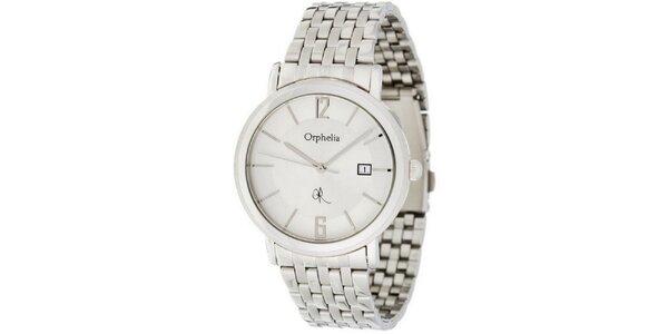 Pánské ocelové hodinky Orphelia s bílým ciferníkem