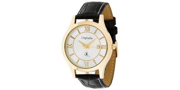 Pánské ocelové hodinky Orphelia se zlatými římskými číslicemi
