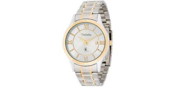 Pánské ocelové hodinky Orphelia ve zlato-stříbrné barvě