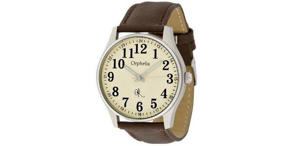 Pánské retro hodinky s velkými číslicemi Orphelia