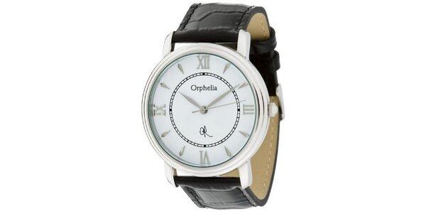 Pánské ocelové hodinky Orphelia s koženým řemínkem