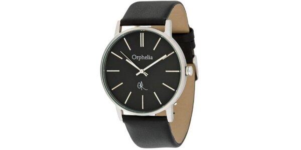 Pánské ocelové hodinky Orphelia s černým ciferníkem