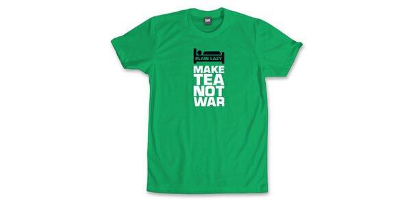 Pánské výrazně zelené tričko Plain Lazy