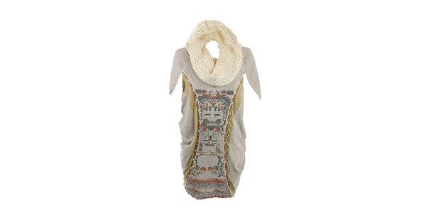 Dámské zelené šaty s aztéckým vzorem a odjímatelným rolákem Angels Never Die