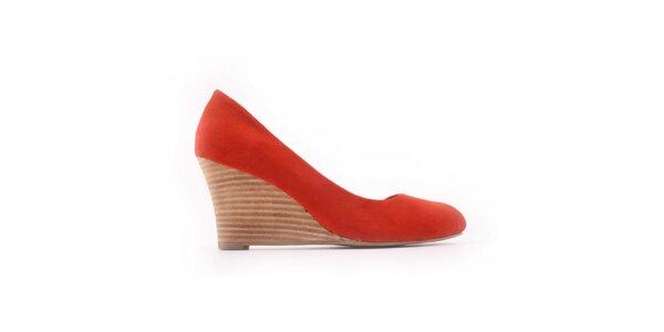 Dámské oranžovo-červené lodičky Derhy
