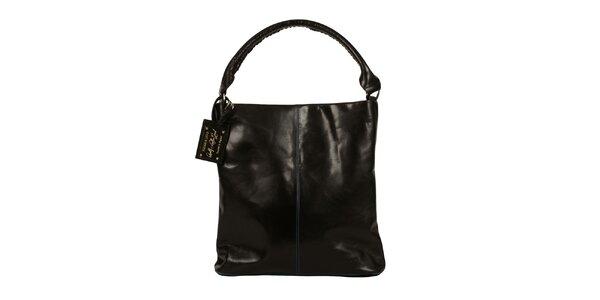 Dámská černá kožená kabelka Forbes&Lewis