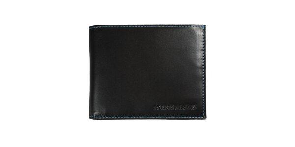 Pánská černá kožená peněženka Forbes&Lewis