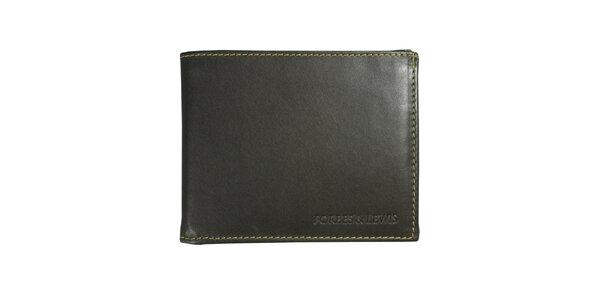 Pánská šedá kožená peněženka Forbes&Lewis