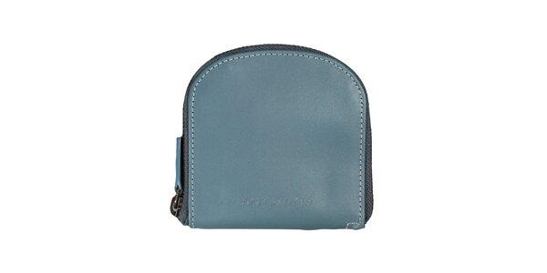 Dámská modrá peněženka s bílým prošíváním Forbes&Lewis