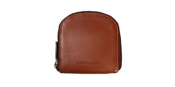 Dámská hnědá kožená peněženka Forbes&Lewis