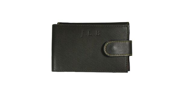 Pánská šedá kožená peněženka Forbes&Lewis s cvočkem