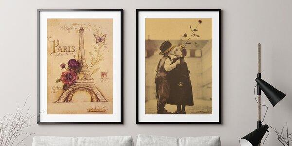 Vintage plakáty: Paříž, Londýn, mapa světa a jiné