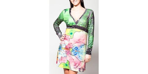Dámské šaty Culito from Spain s véčkovým výstřihem