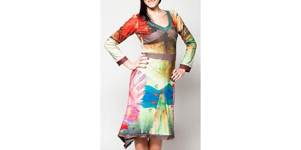 Dámské šaty s asymetrickým cípem Culito from Spain
