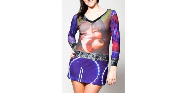 Dámské minišaty s fialovou sukní Culito from Spain