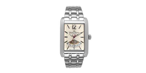 Pánské ocelové hodinky Yonger & Bresson s béžovým ciferníkem