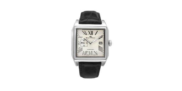 Pánské ocelové čtvercové hodinky Yonger & Bresson s béžovým ciferníkem a…